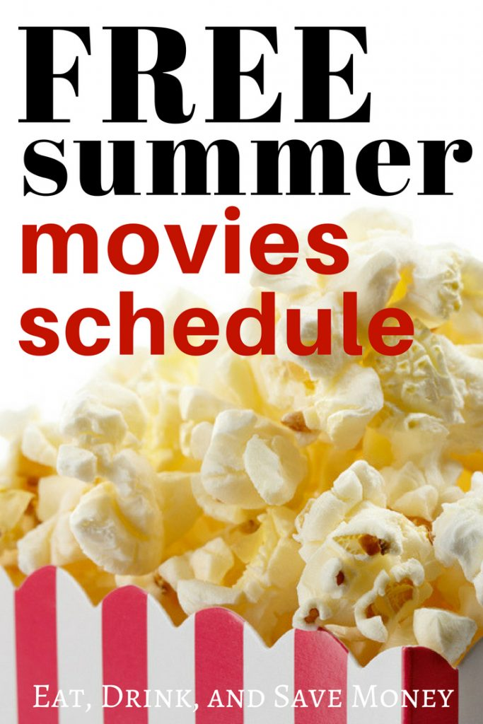 Free activities for kids to do this summer. Free summer movies. free summer movie schedule. #free #funforkids #summer #summeractivities