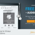 Free Kindle with Audible Subscription