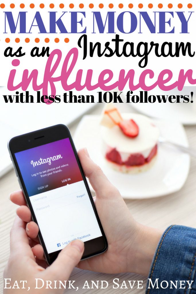 Make money as an Instagram influencer with less than 10K followers. Follow these social media tips to learn how to make money on Instagram and to make money with a blog #bloggingtips #influencer #blogger #makemoney #Instagram