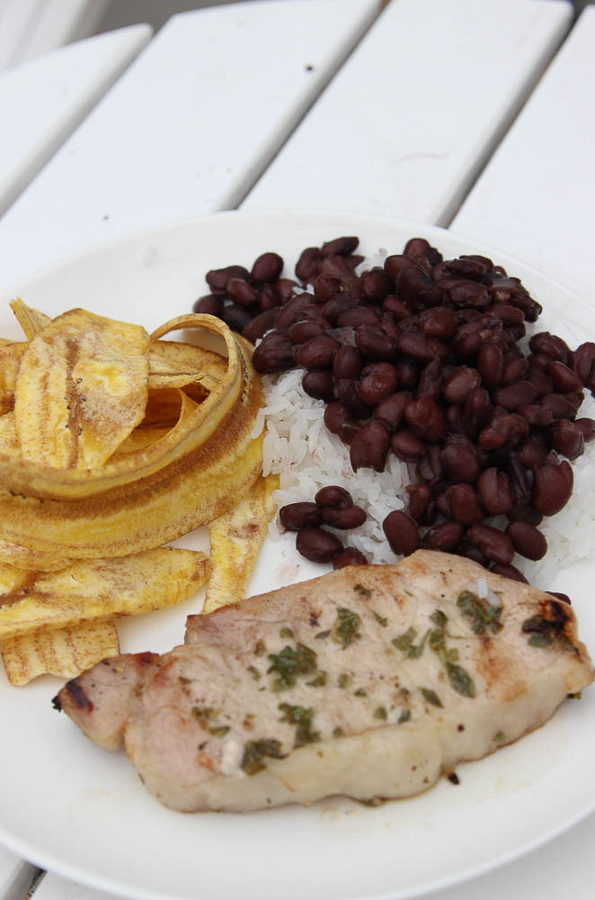 Make marinated mojo pork on the grill