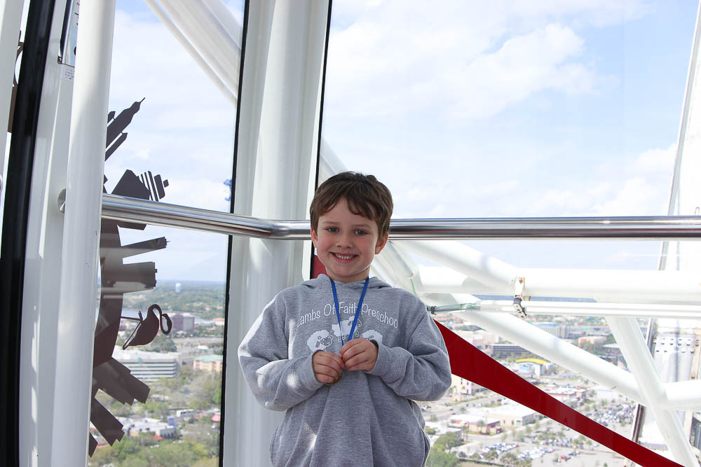 Things to do with kids in Orlando | Robert on the orlando eye at i-drive 360-2