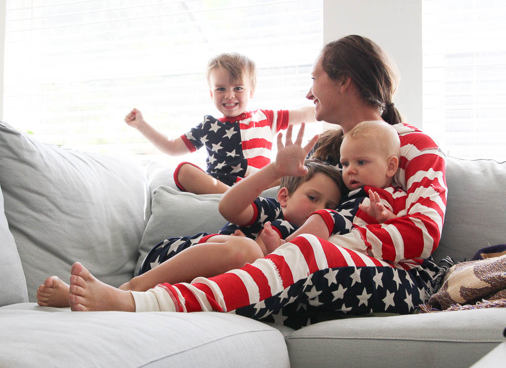 Fourth of July Pajamas Red white and blue pjs-3