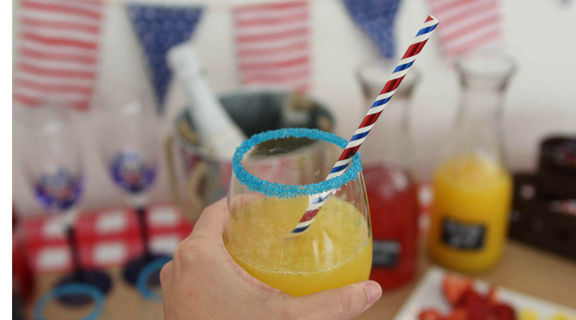 Fourth of July mimosa bar