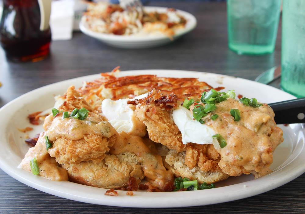 Metro Diner fried chicken benedict