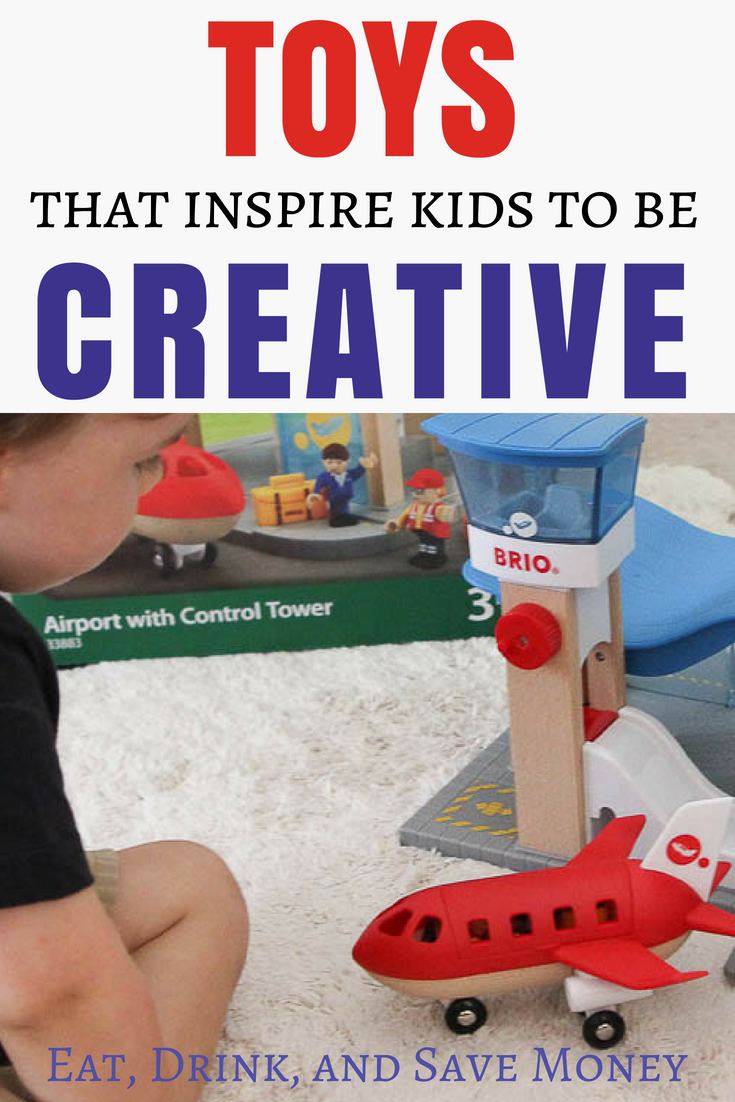 Toys that inspire kids to be creative. Toy review. BRIO toys. Toddler toys.