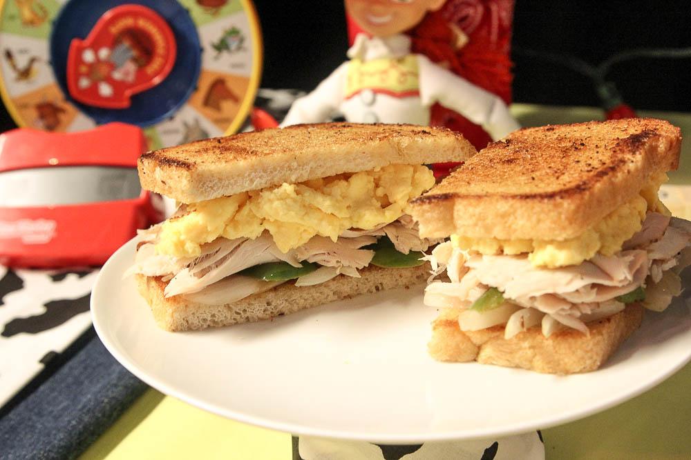 Smoked Turkey breakfast sandwich Woody's Lunch Box Toy Story Land