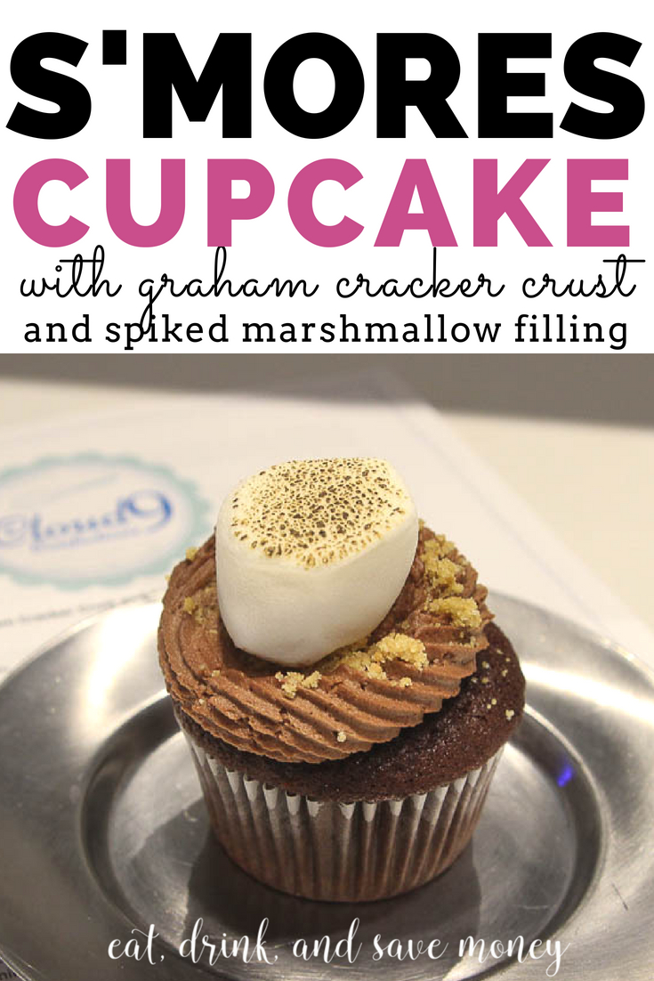 S'mores cupcake recipe |smores cupcakes with graham cracker crust and spiked marshmallow filling from Cloud 9 Confections