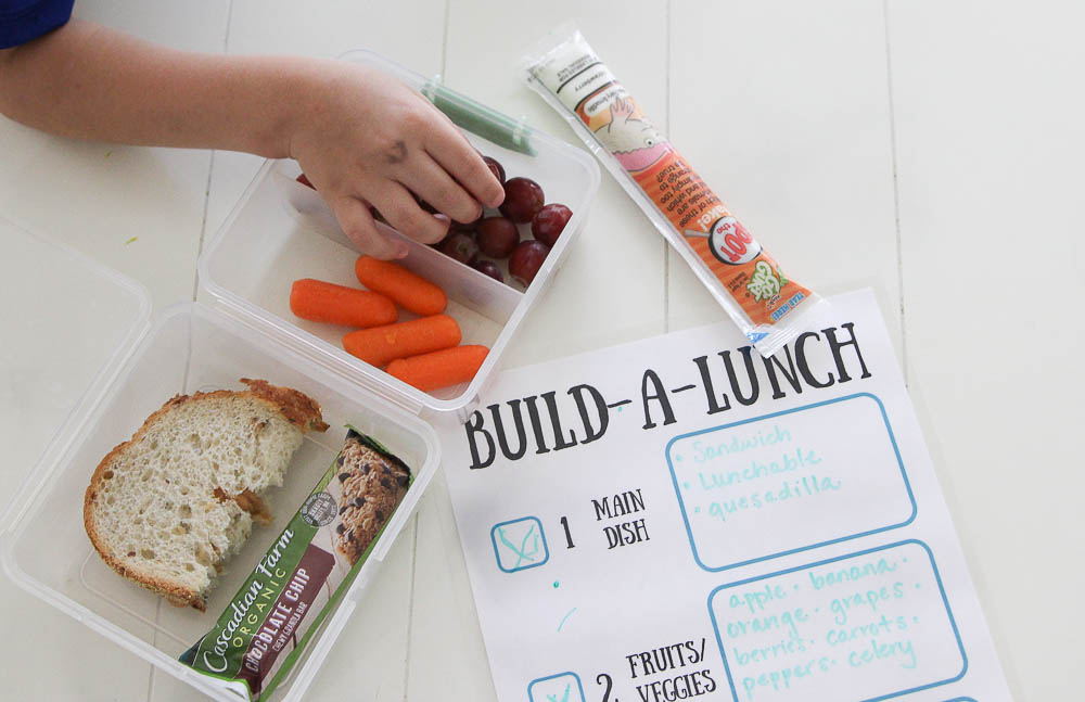Build a lunch back to school lunch printable