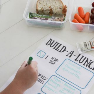 Easy tips for back to school lunches with Build a lunch printable.