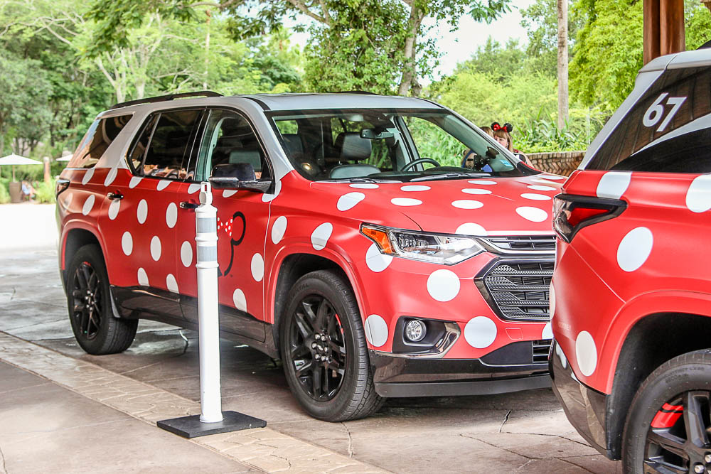 Minnie Van Transportation in Disney World