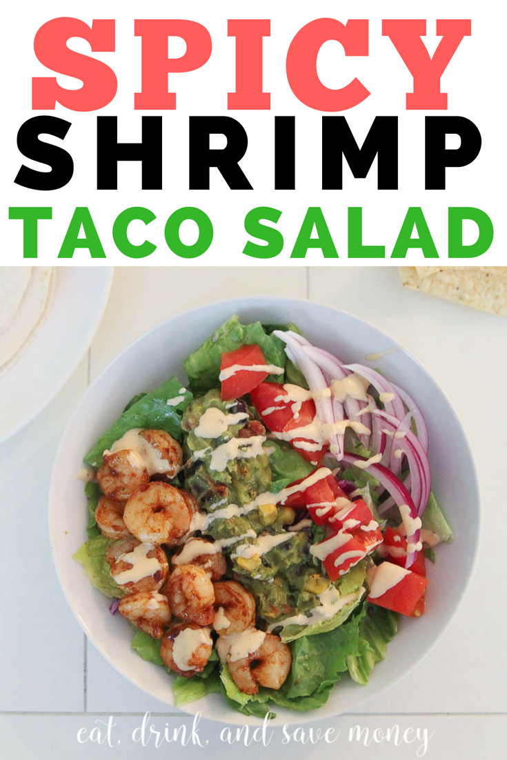Spicy shrimp taco salad recipe