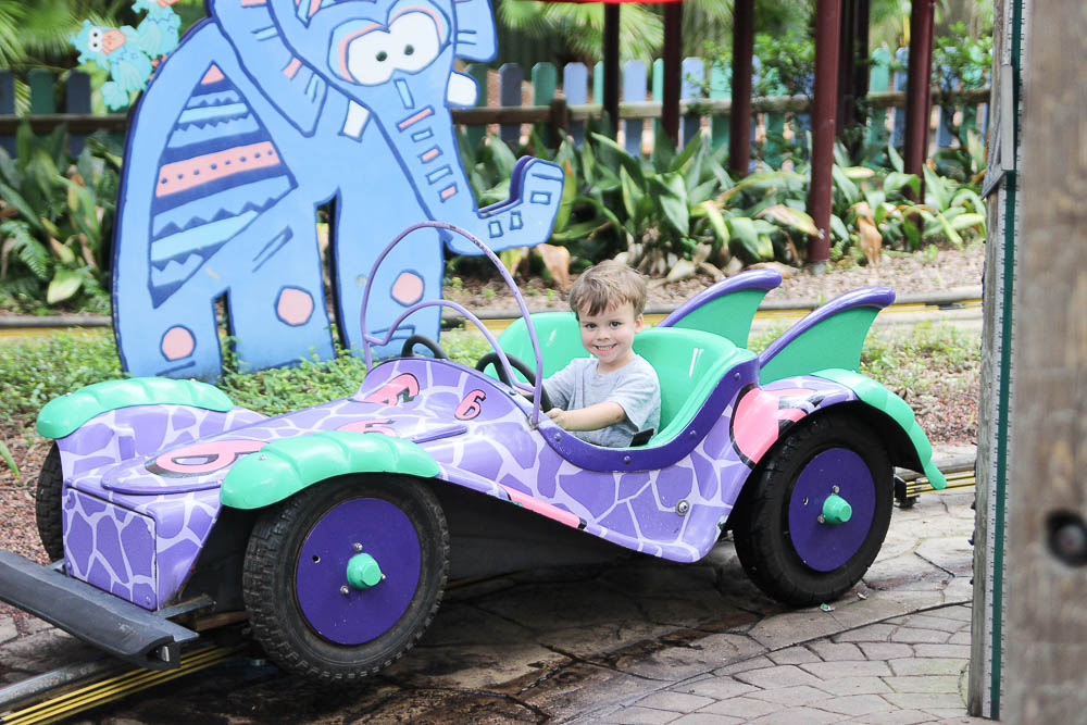 Enjoying the kid friendly rides at Busch Gardens with the Tampa Bay CityPASS