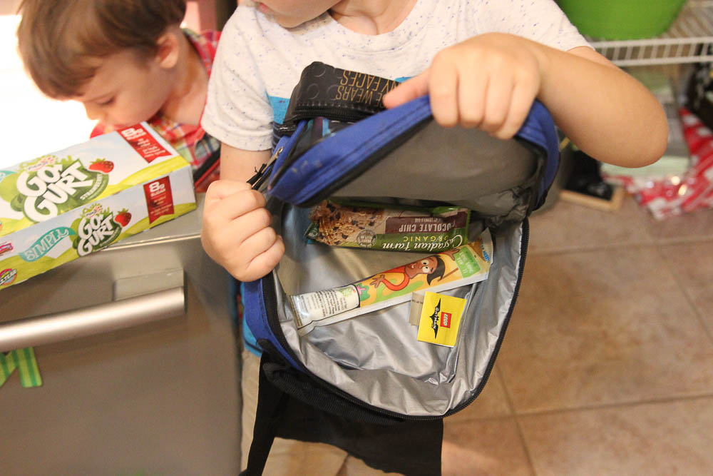 kids pack a back to school lunch