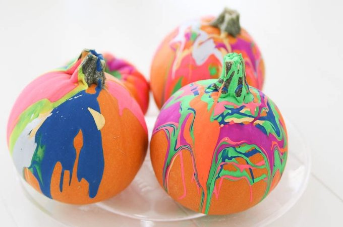 Easy drip pumpkin decorating