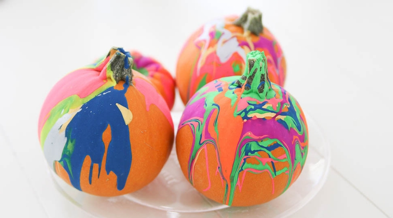 Easy drip pumpkin decorating