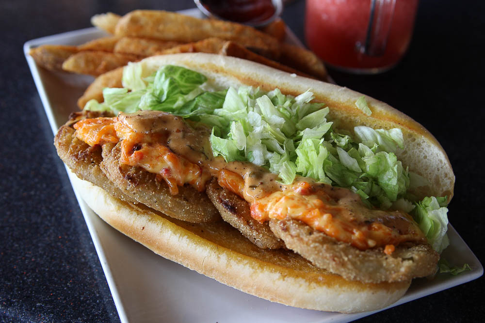 fried green tomato poboy from bokampers