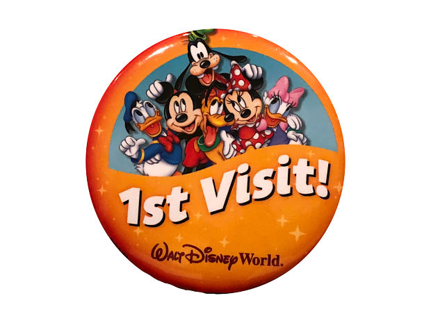 first visit to Disney World button