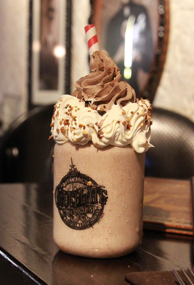 Amazing milkshake from Toothsome Chocolate Emporium at Universal CityWalk, one of the best places to eat in Universal. Top of the list for where to eat at CityWalk Universal.