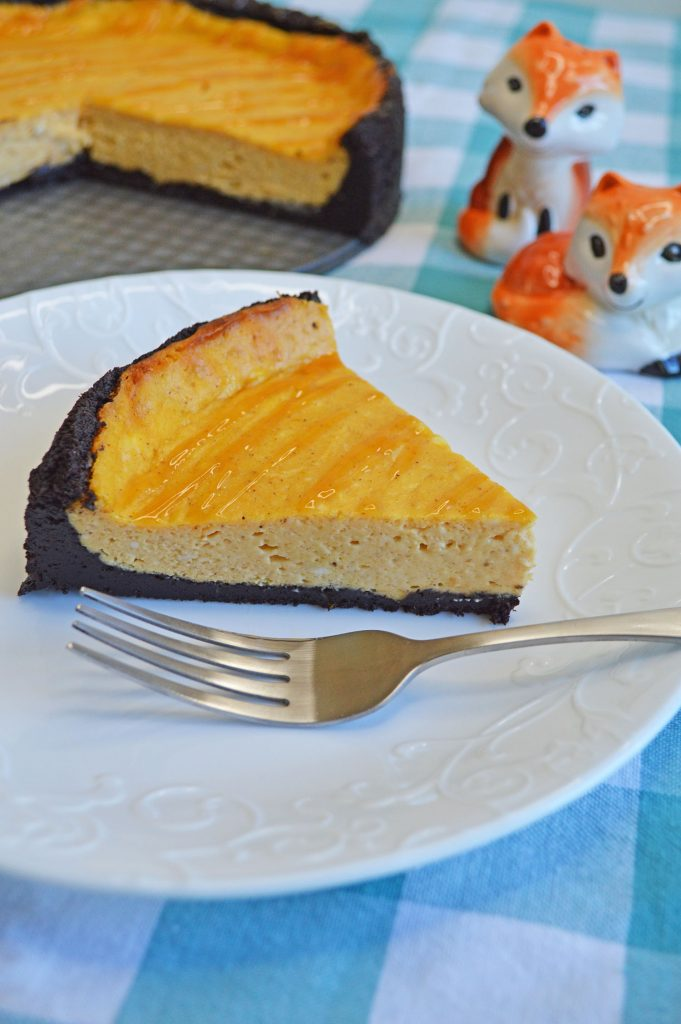 Pumpkin cheesecake with oreo crust easy pumpkin dessert recipe