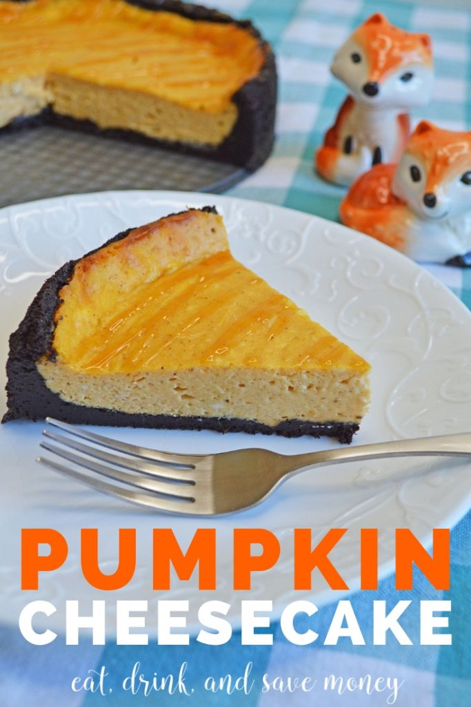 How to make an easy pumpkin dessert. This pumpkin cheesecake recipe is super simple. #pumpkin #dessert #fall #pumpkincheesecake #cheesecake