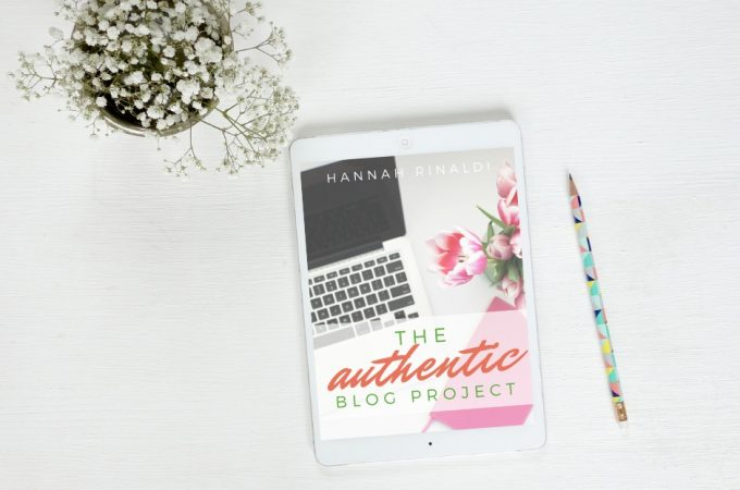 The Authentic Blog Project on eReader mockup