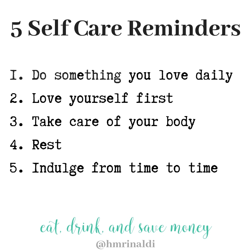 Self Care Reminders