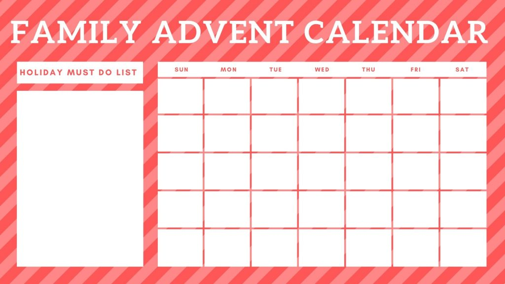 Family Advent Calendar Planning