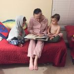 Mama J reading to boys after surgery
