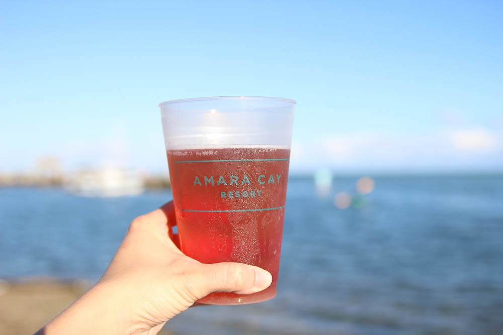 drinks at Amara Cay in Islamorada