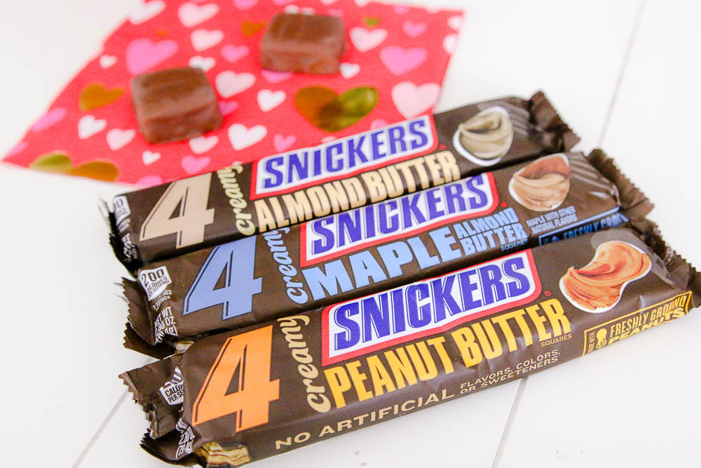 Three different types of Creamy SNICKERS