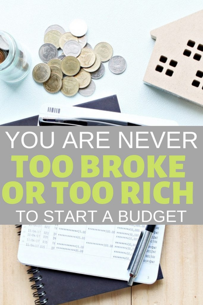 You are never too broke or too rich to start a budget. Learn how to start one here.