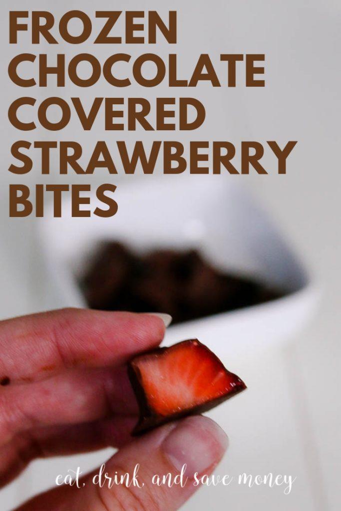 frozen chocolate covered strawberry bites. Dark chocolate strawberry bites-2