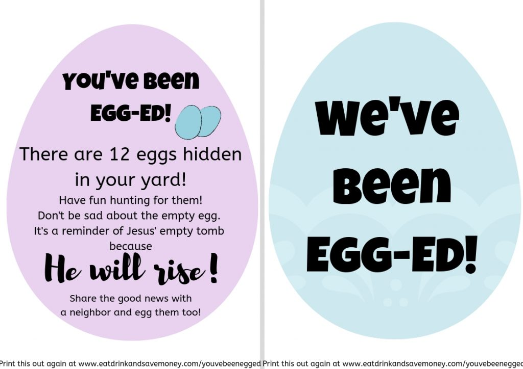 photograph relating to You've Been Egged Printable named What in the direction of Do As soon as Youve Been Egg-ed! As well as No cost Printable
