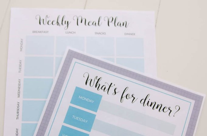 Free printable meal planning sheets