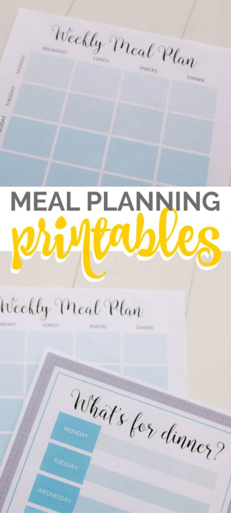 Printable free weekly meal plan
