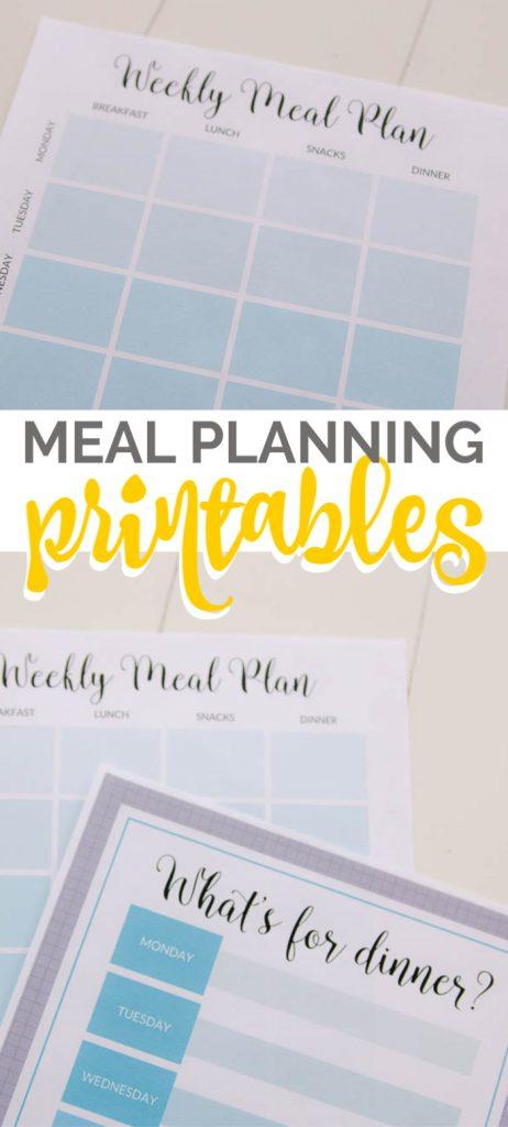 Printable free weekly meal plan