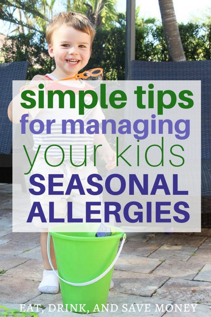 Simple tips for managing your kids seasonal allergies.