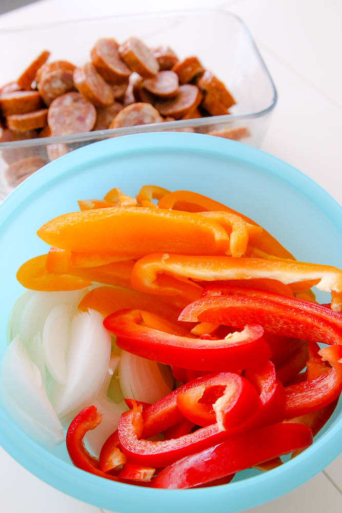 sausage, onions, and peppers recipe