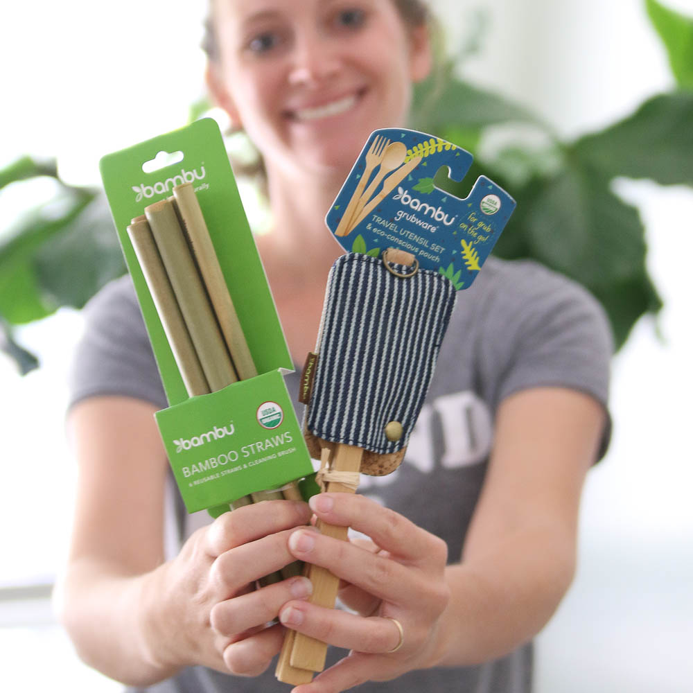 Win the bambu prize pack of sustainable dinnerware for a zero waste lunch kit