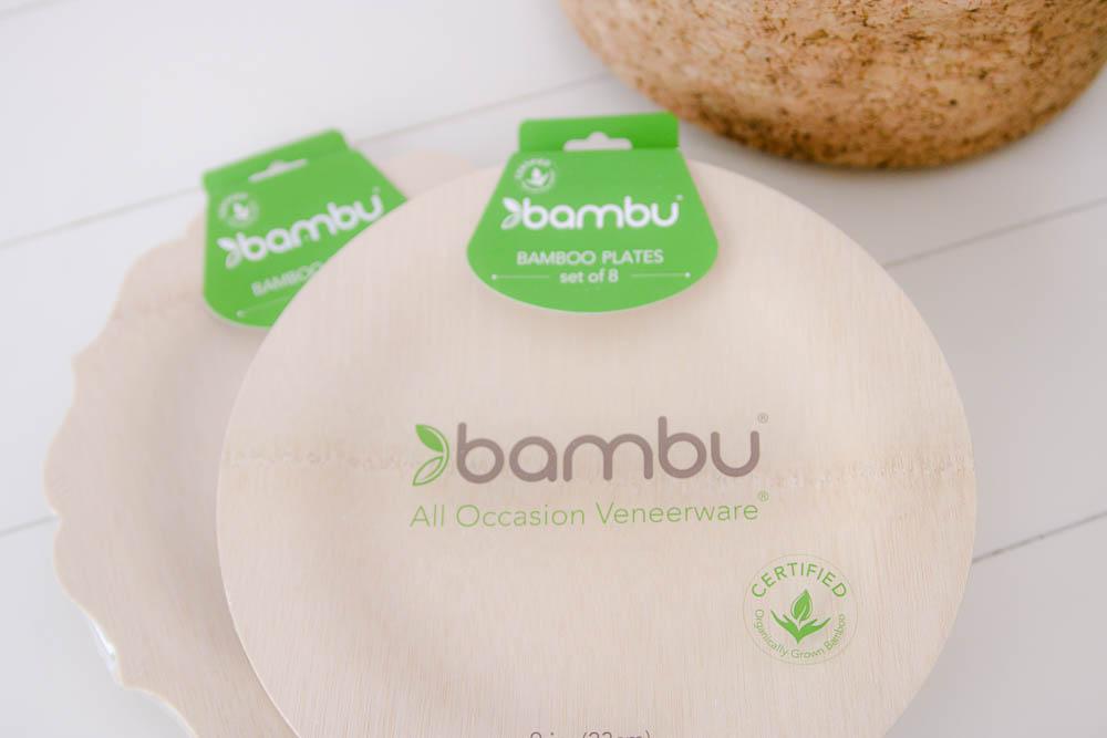 compostable bamboo plates by bambu