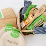 Bambu gift set make of bamboo sustainable dinnerware