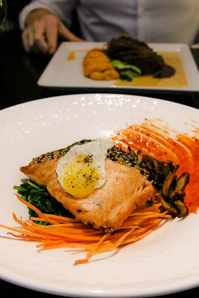 salmon bibimbap from roys