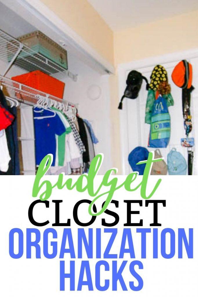 Budget closet organization hacks