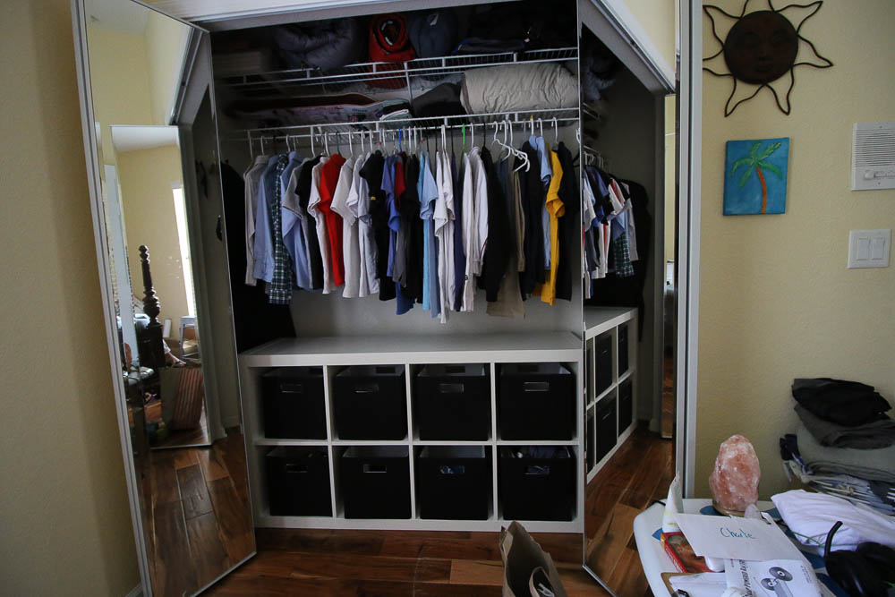 budget organization for closets