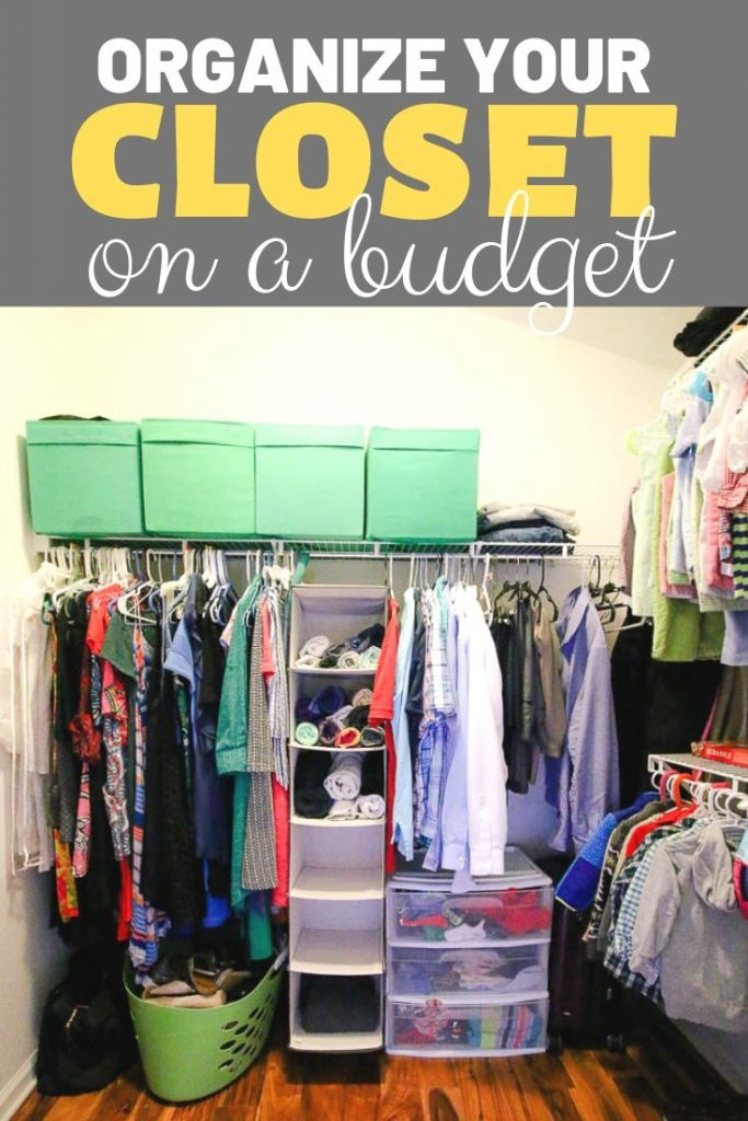Organize your closet on a budget