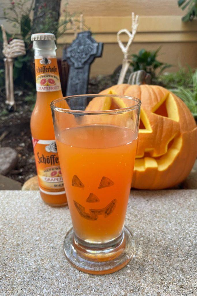 Halloween grapefruit beer