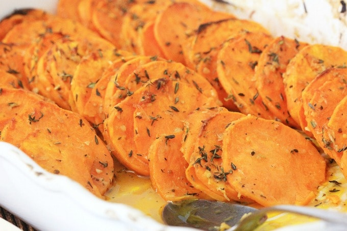 Roasted sweet potatoes from fun money mom recipes