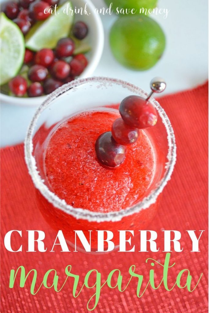 Recipe for a festive Christmas drink- cranberry margarita