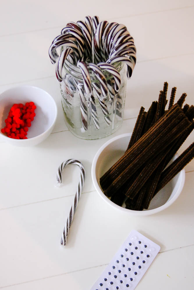 Reindeer candy cane supplies