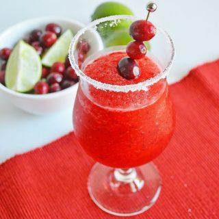 easiest ever cranberry margarita